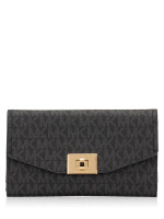 MICHAEL KORS Cassie Monogram Large Trifold Black