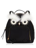 KATE SPADE Star Bright Owl Tomi Nylon Backpack Black