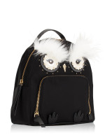 KATE SPADE Star Bright Owl Tomi Nylon Backpack Black