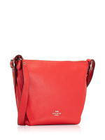 COACH 34767 Pebble Leather Danny Duffle Bag Bright Red