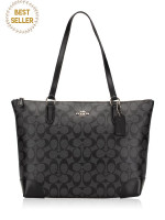 COACH 29208 Signature Zip Tote Black Smoke
