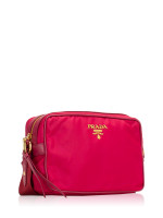PRADA 1BH089 Tessuto Soft Calf Crossbody Ibisco