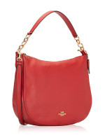 COACH 31399 Pebbled Leather Elle Hobo Ruby