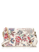 TORY BURCH Fleming Printed Flat Wallet Crossbody Happy Times