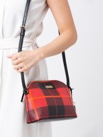 KATE SPADE Brightwater Drive Woodland Plaid Hanna Red Carpet