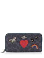 COACH 26784 Signature Souvenir Embroidery Zip Wallet Denim