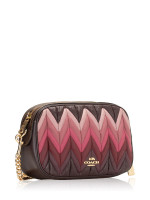 COACH 30652 Ombre Quilted Leather Isla Crossbody Oxblood Multi