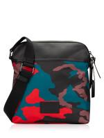 COACH Men 67944 Camo Nylon Crossbody Red Multi