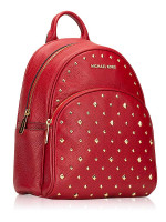 MICHAEL KORS Abbey Studded Leather Medium Backpack Scarlet