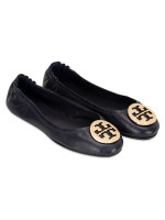 TORY BURCH Minnie Travel Flats Perfect Navy Gold Sz 5.5