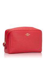 COACH 24797 Crossgrain Leather Cosmetic Case 20 True Red