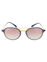 RAY-BAN RB4287 Polarized Mirror Sunglasses Rosegold Blue