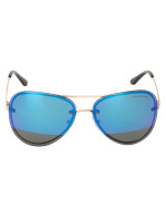 MICHAEL KORS MK1026 La Jolla Aviator Mirror Sunglasses Blue