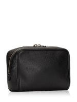 BALLY Leather Zip Pouch Black
