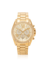 MICHAEL KORS MK6538 Bradshaw Pave Chronograph Stainless Gold