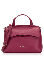 FURLA Niki Leather Small Satchel Amarena