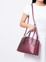 COACH 35515 Metallic Leather Charlie 28 Berry Multi