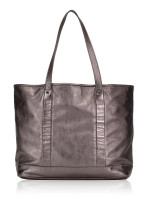 LONGCHAMP Happy Large Leather Tote Silver