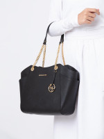 MICHAEL KORS Jet Set Large Chain Shoulder Tote Black