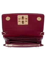 TORY BURCH Britten Leather Chain Wallet Imperial Warnet