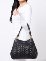 COACH 32978 Quilted Leather Lexy Shoulder Bag Black