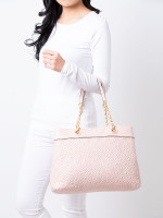 TORY BURCH Fleming Triple Compartment Tote Shell Pink