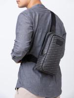 BALLY Men Tanis Signature Sling Bag Black Multi