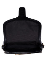 COACH 38111 Flocked Chain Elle Saddle Bag Black