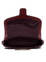 COACH 38111 Flocked Chain Elle Saddle Bag Claret