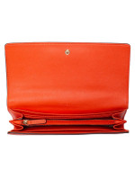 MICHAEL KORS Jet Set Travel Leather Carryall Wallet Clementine