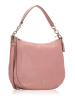 COACH 31399 Pebbled Leather Elle Hobo Dusty Rose