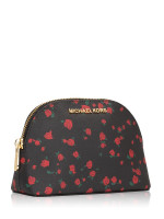 MICHAEL KORS Jet Set Travel Large Pouch Black Red
