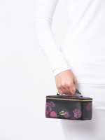 COACH 38638 Halftone Floral Vanity Case Black Multi