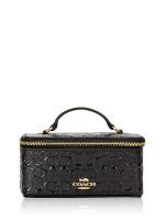 COACH 39743 Signature Patent Leather Vanity Case Black