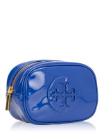 TORY BURCH Stacked Logo Patent Small Cosmetic Case Songbird