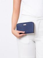 FURLA Classic Leather XL Zip Wallet Navy