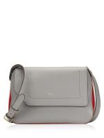 BALLY Bezin Leather Crossbody Grey