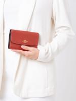 COACH 38700 Metallic Crossgrain Medium Envelope Wallet Currant