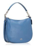 COACH 31399 Pebbled Leather Elle Hobo Sky Blue