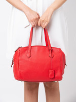 FENDI Leather Bauletto Red