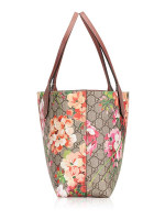 GUCCI GG Supreme Blooms Small Reversible Tote Antique Rose