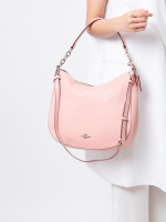 COACH 31399 Pebbled Leather Elle Hobo Petal
