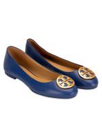 TORY BURCH Benton Leather Flats Fresh Blueberry Sz 5