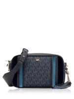 MICHAEL KORS Monogram Small Camera Bag Admiral Pale Blue