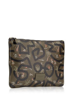 COACH 66583 Keith Haring Large Pouch With Hula Dance Print Surplus