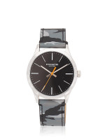 COACH 14602371 Camouflage Leather Strap Black