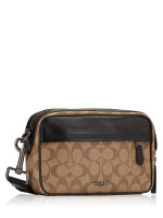 COACH Men 50715 Signature Graham Crossbody Tan