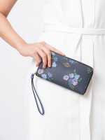 COACH 73008 Painted Peony Phone Wallet Navy Multi