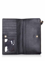 COACH 73156 Pebbled Leather Long Wallet Black
