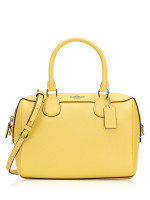 COACH 32202 Crossgrain Mini Bennett Satchel Light Yellow